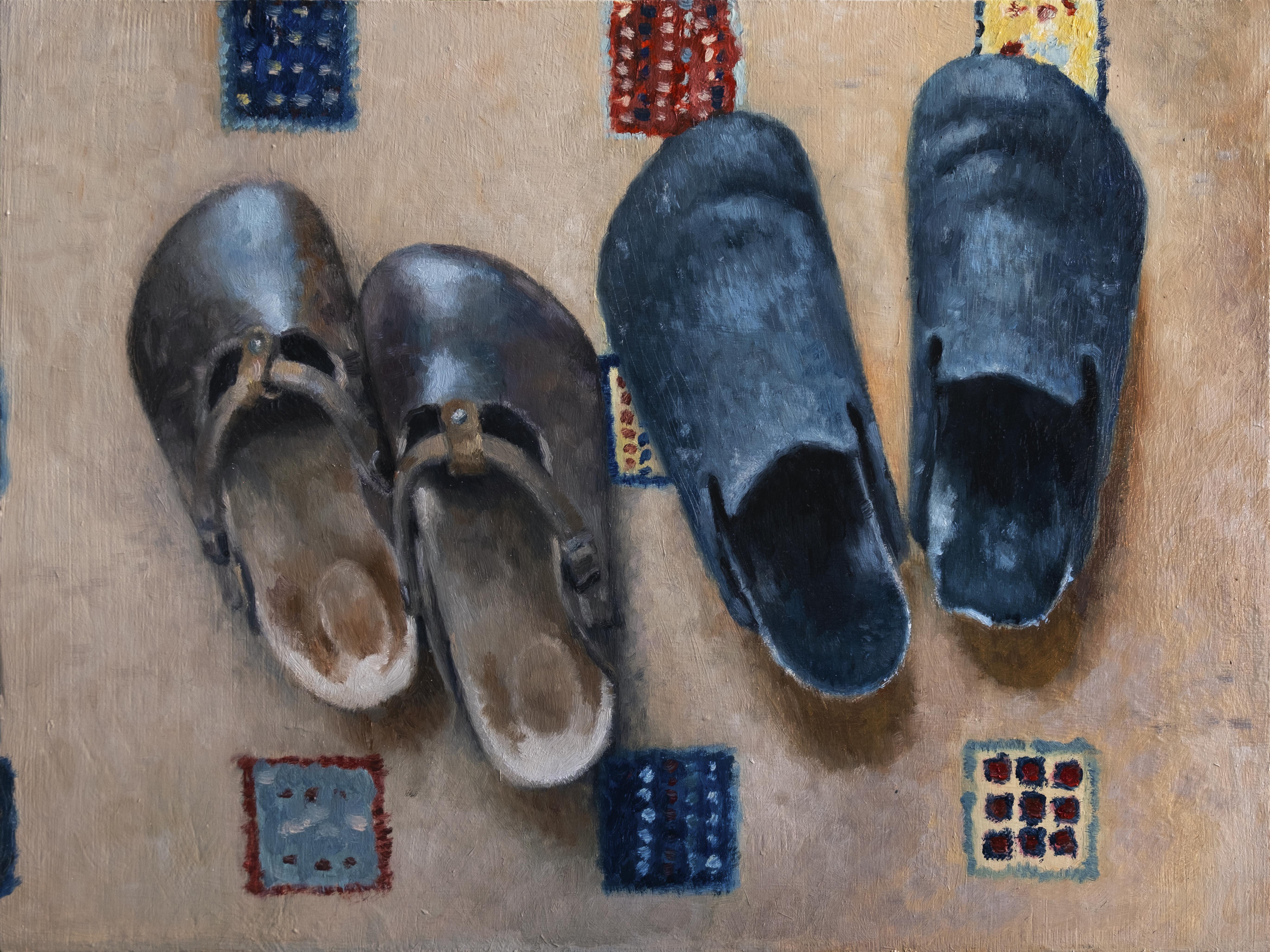 Anna Calleja, Comfort Zone, oil on panel, 30x40cm, 2020