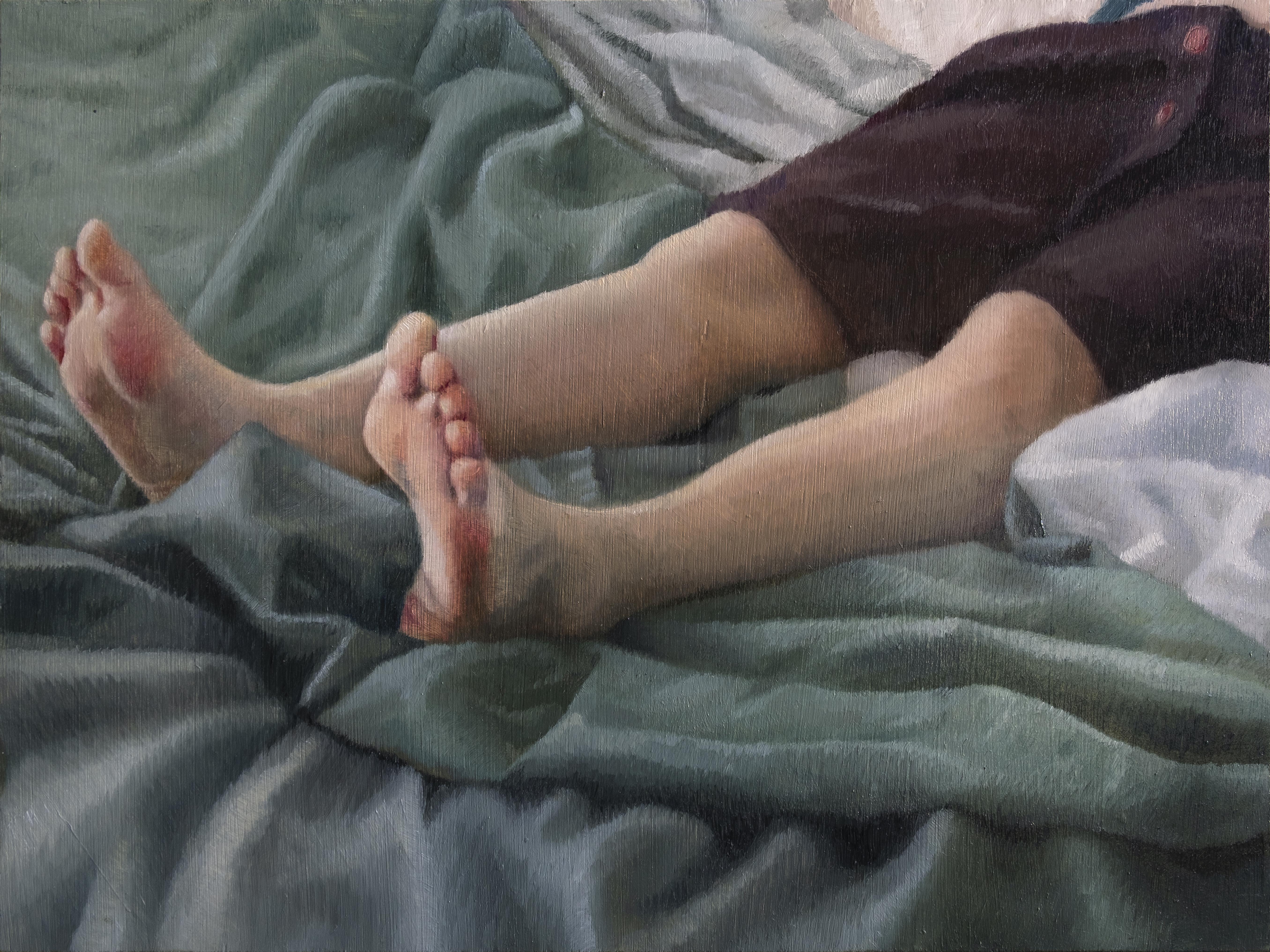 Anna Calleja, Fate, oil on panel, 30x40cm, 2020