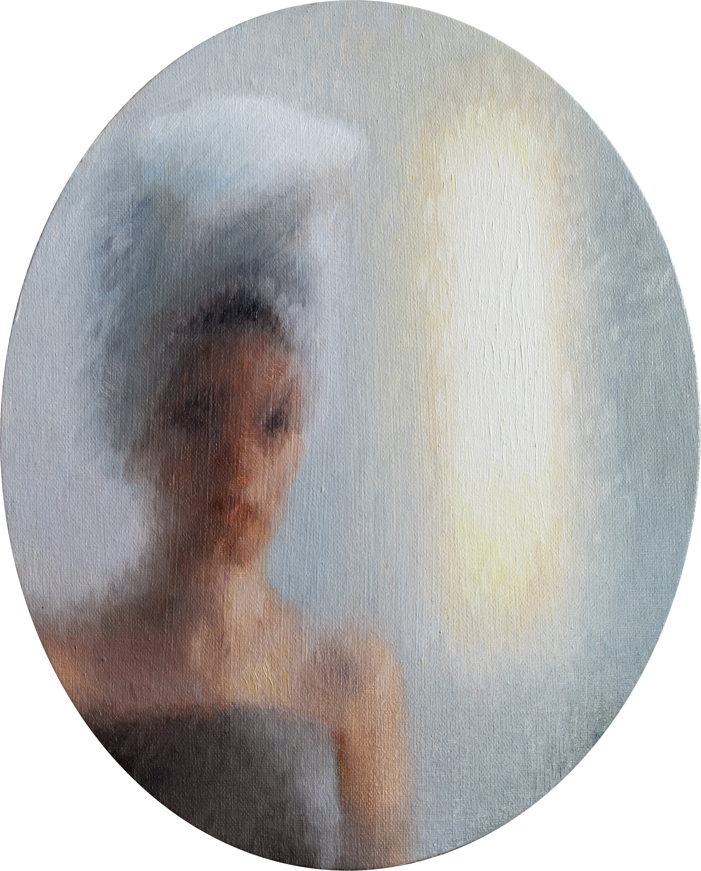 Anna Calleja, Reflection in Mirror, oil on canvas, 20x25cm, 2020
