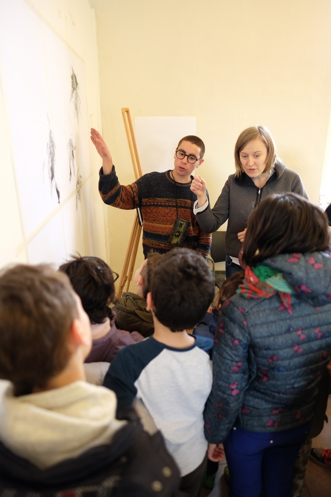 Stefan Spiteri and Maria Laura Silano during Students Open Day.