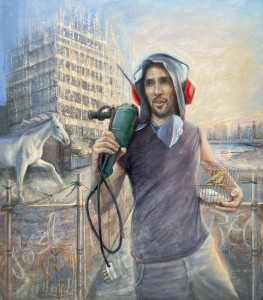 Dominique Ciancio, Trab, Oils on canvas, 92cmX82cm, 2020
