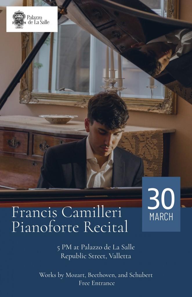 Francis Camilleri Piano Recital Poster