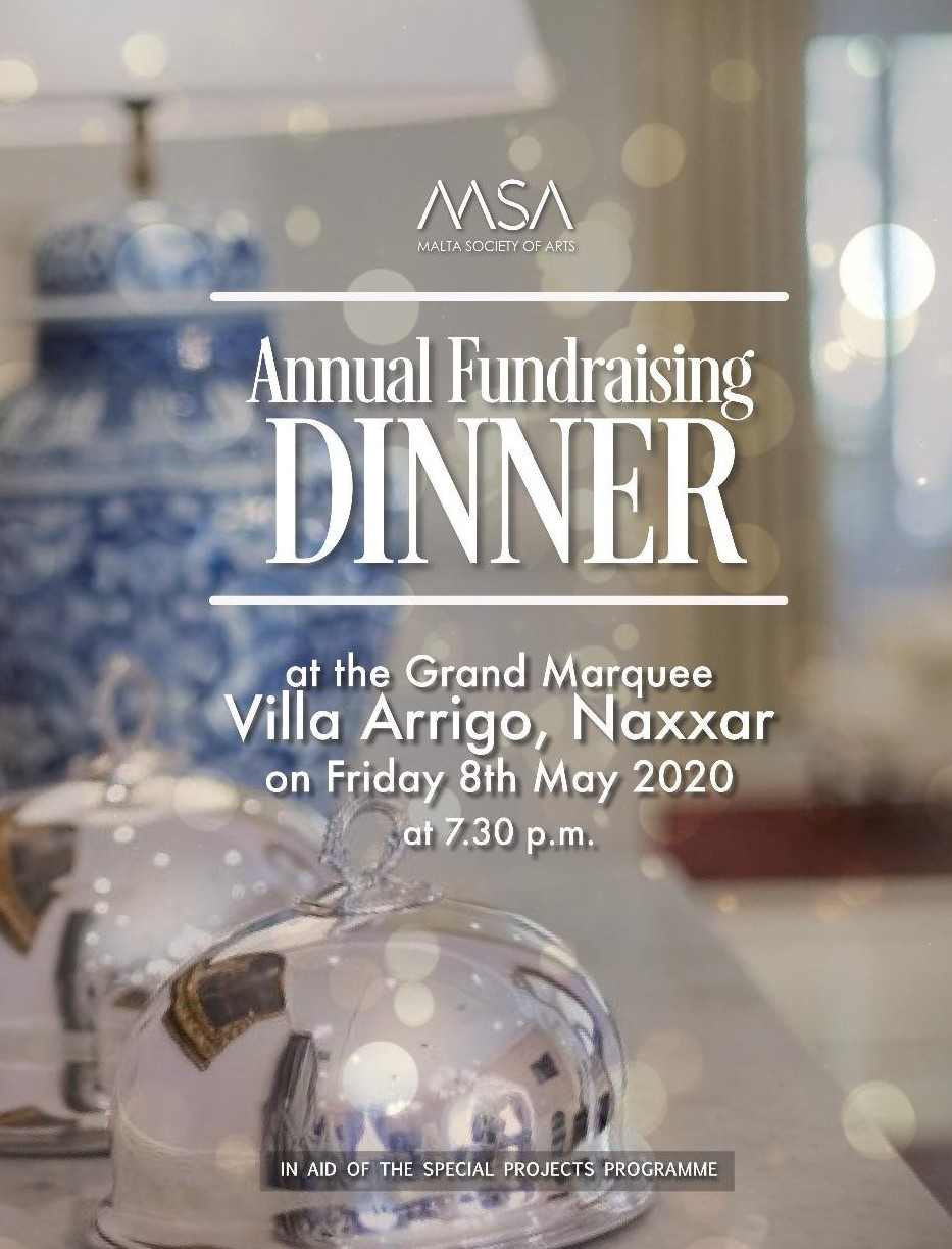 Fundraising Dinner 2020 Poster
