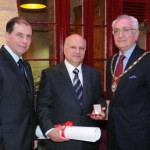 H.E. Dr. George Abela, President of Malta, Mr. Trevor Zahra together with Judge Joseph A. Filletti, President of the Society