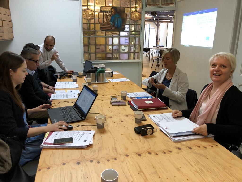Committee members during the steering committee meeting