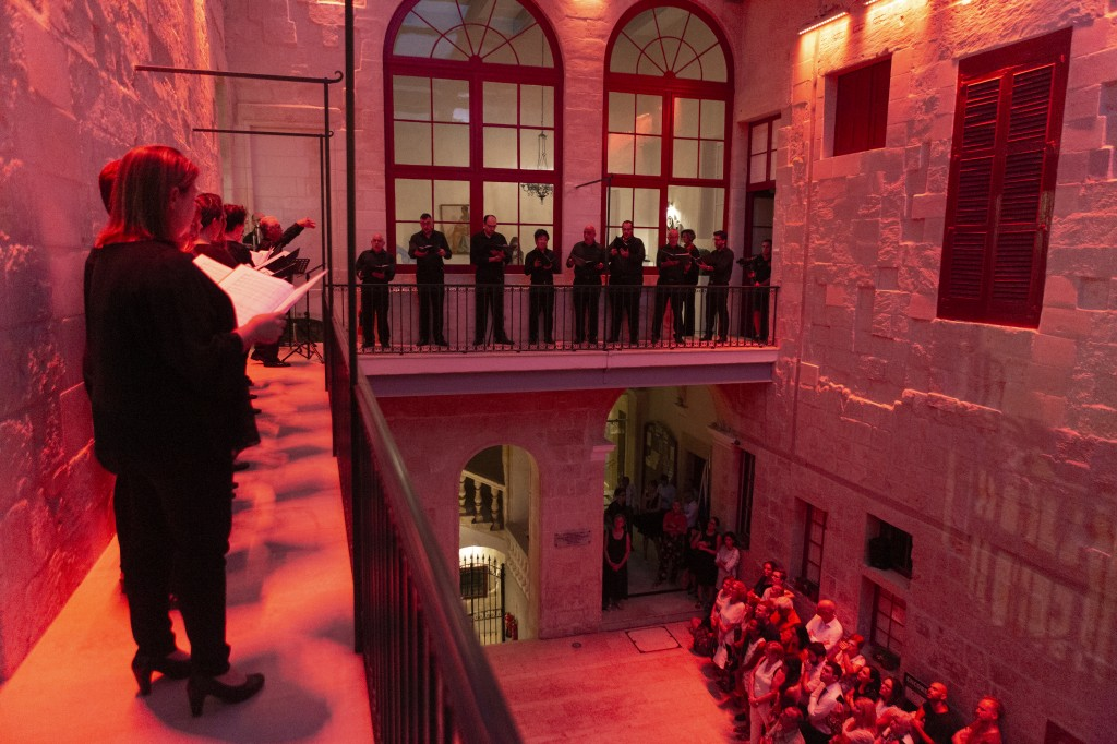 First part of SensitIV Interactive Concert at our Courtyard featuring Goldberg Ensemble under the direction of Mro Michael Laus