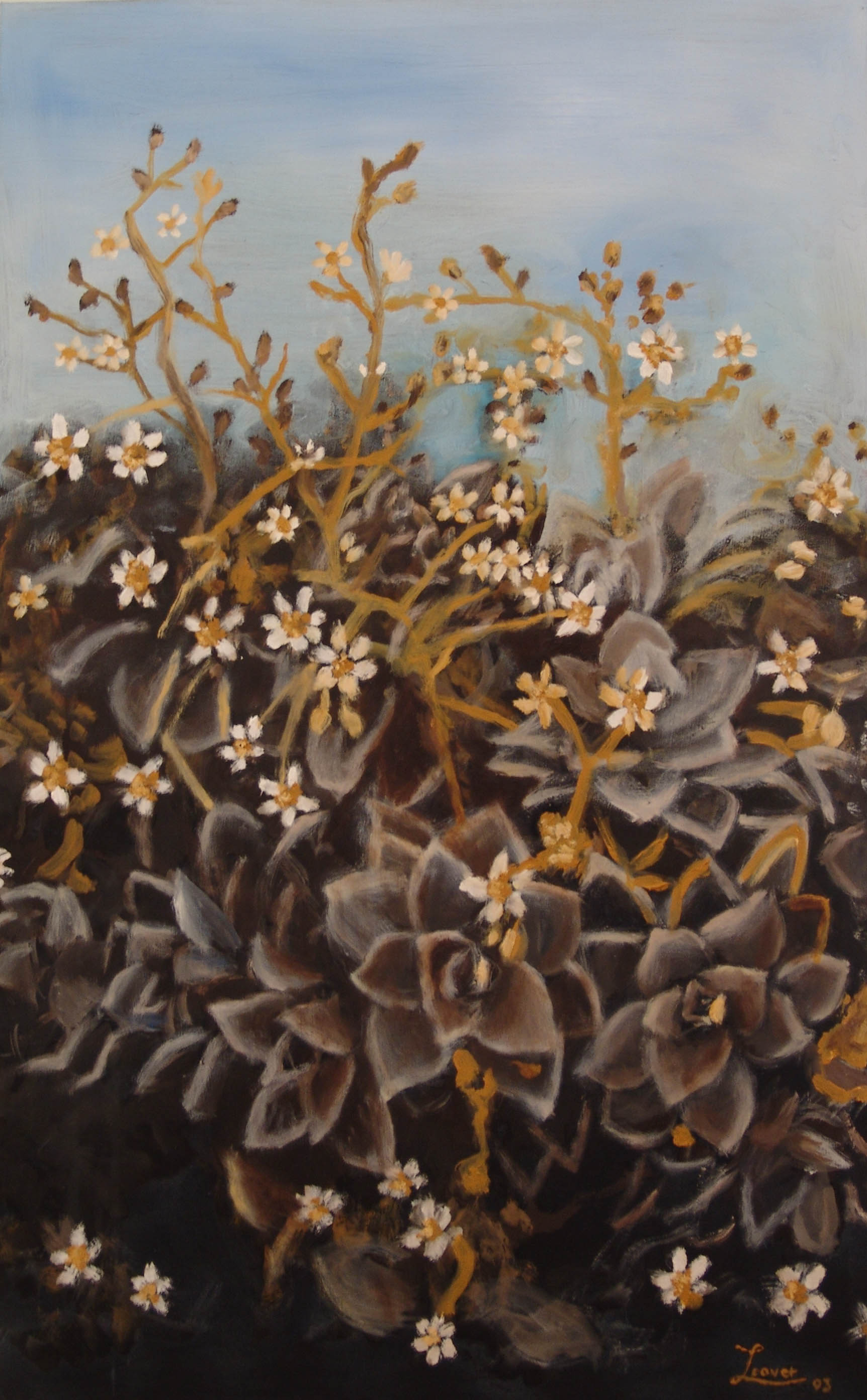 JBL_2004_GREEN_Succulent__Oil on canvas_100x50