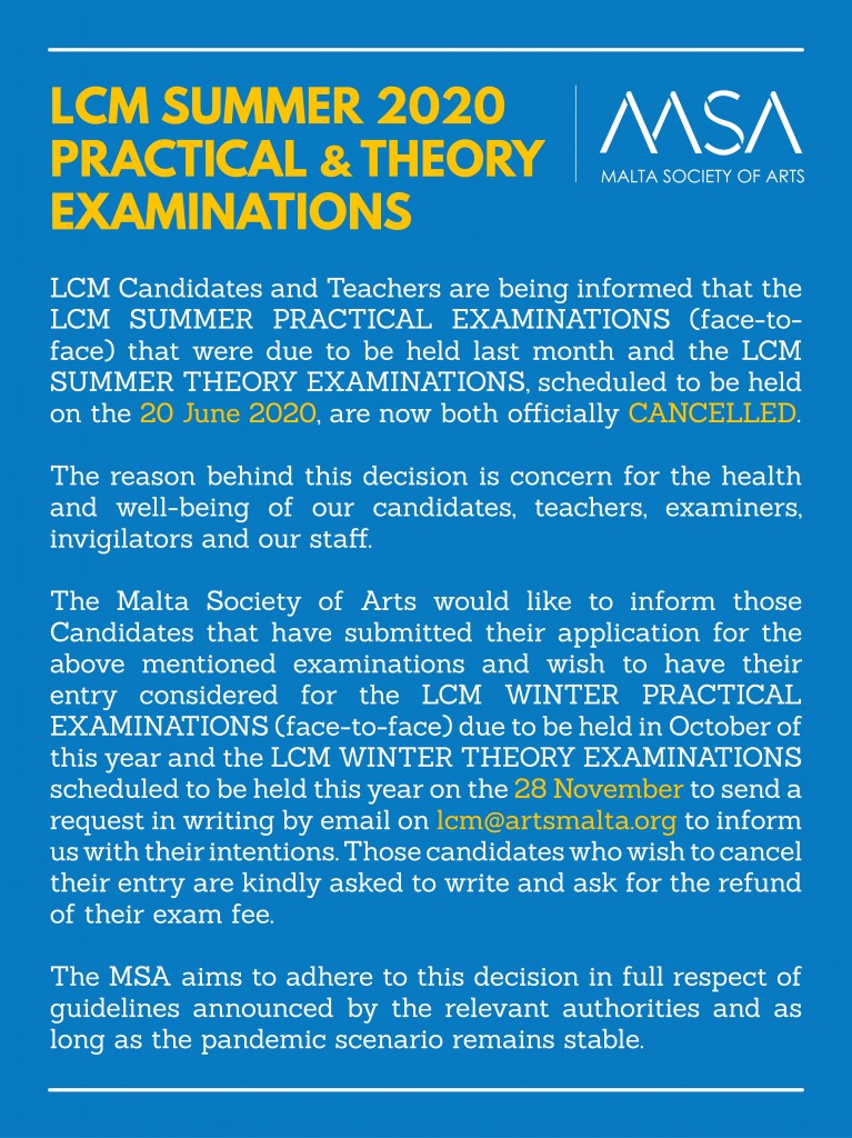 LCM June 2020 Notice