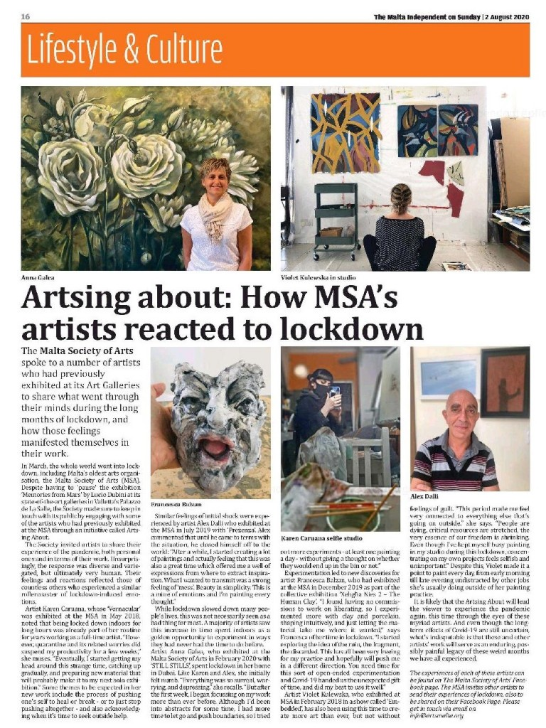 MSA Artsing About - TMIS 2 August 2020 - JPG