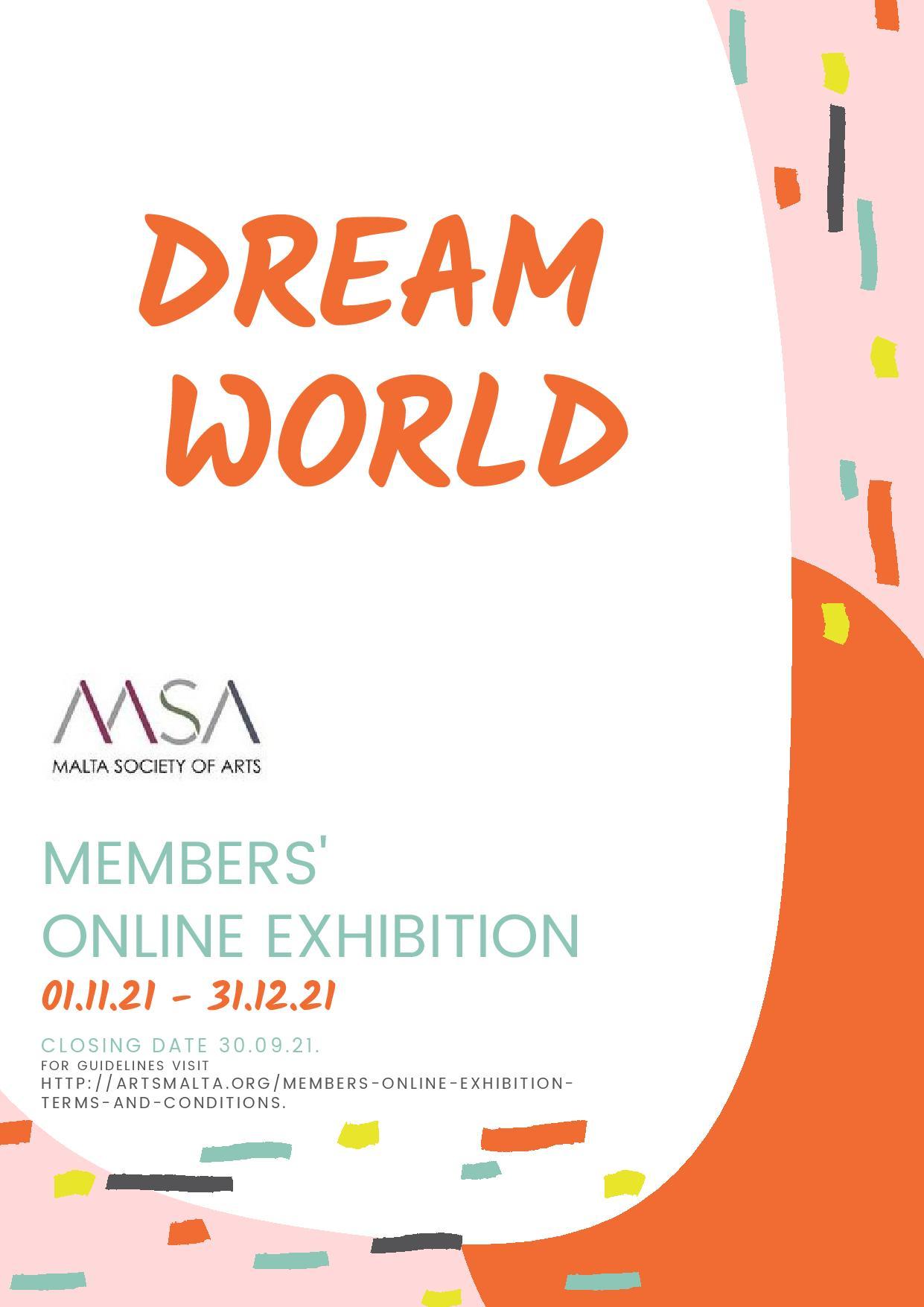 Members online exhibition poster