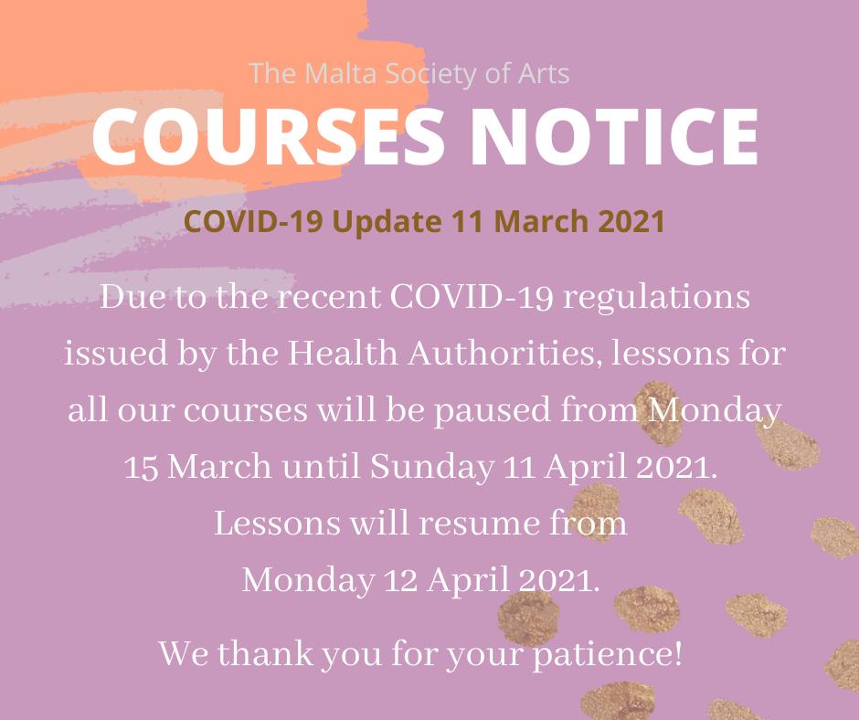 Notice 11 March 2021
