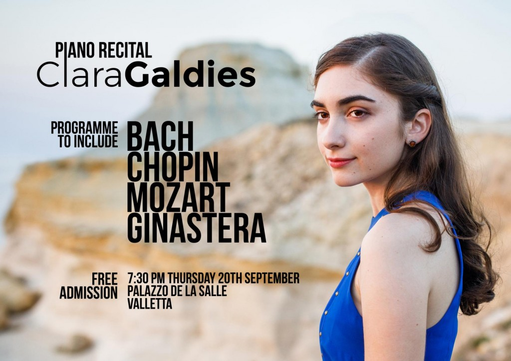 Piano Recital - Clara Galdies Poster JPG