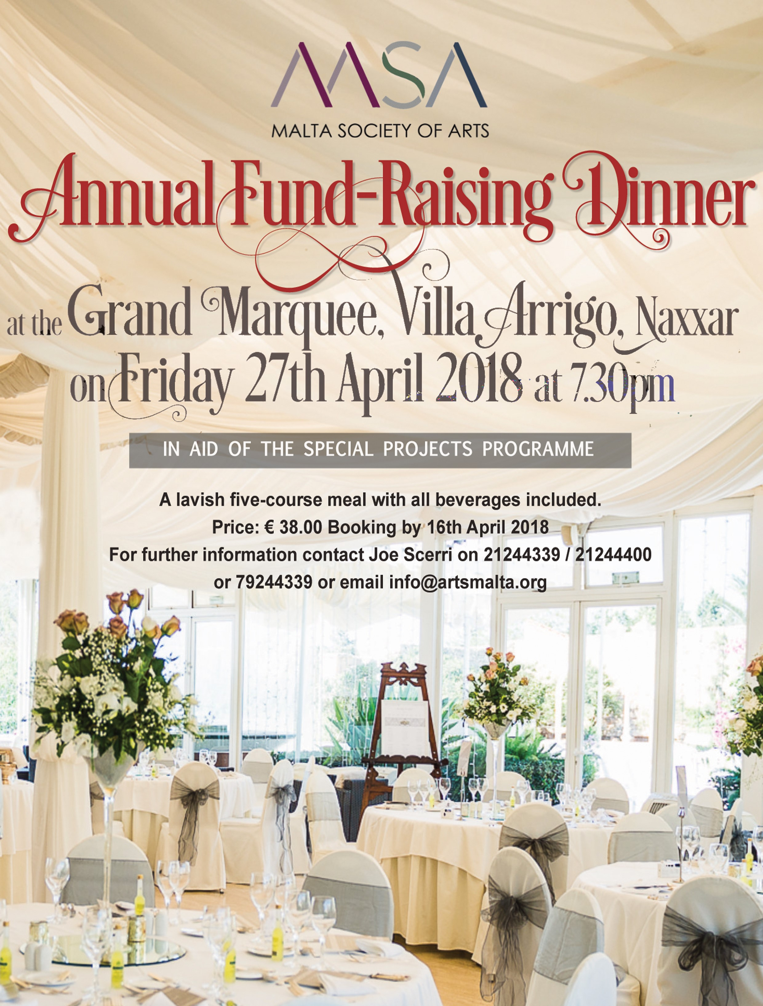 Poster Annual Fund Raising Dinner 2