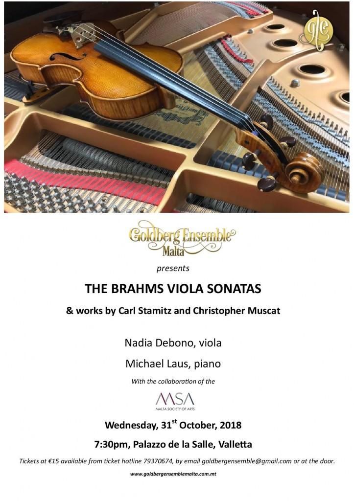 Poster Recital - Goldberg Ensemble