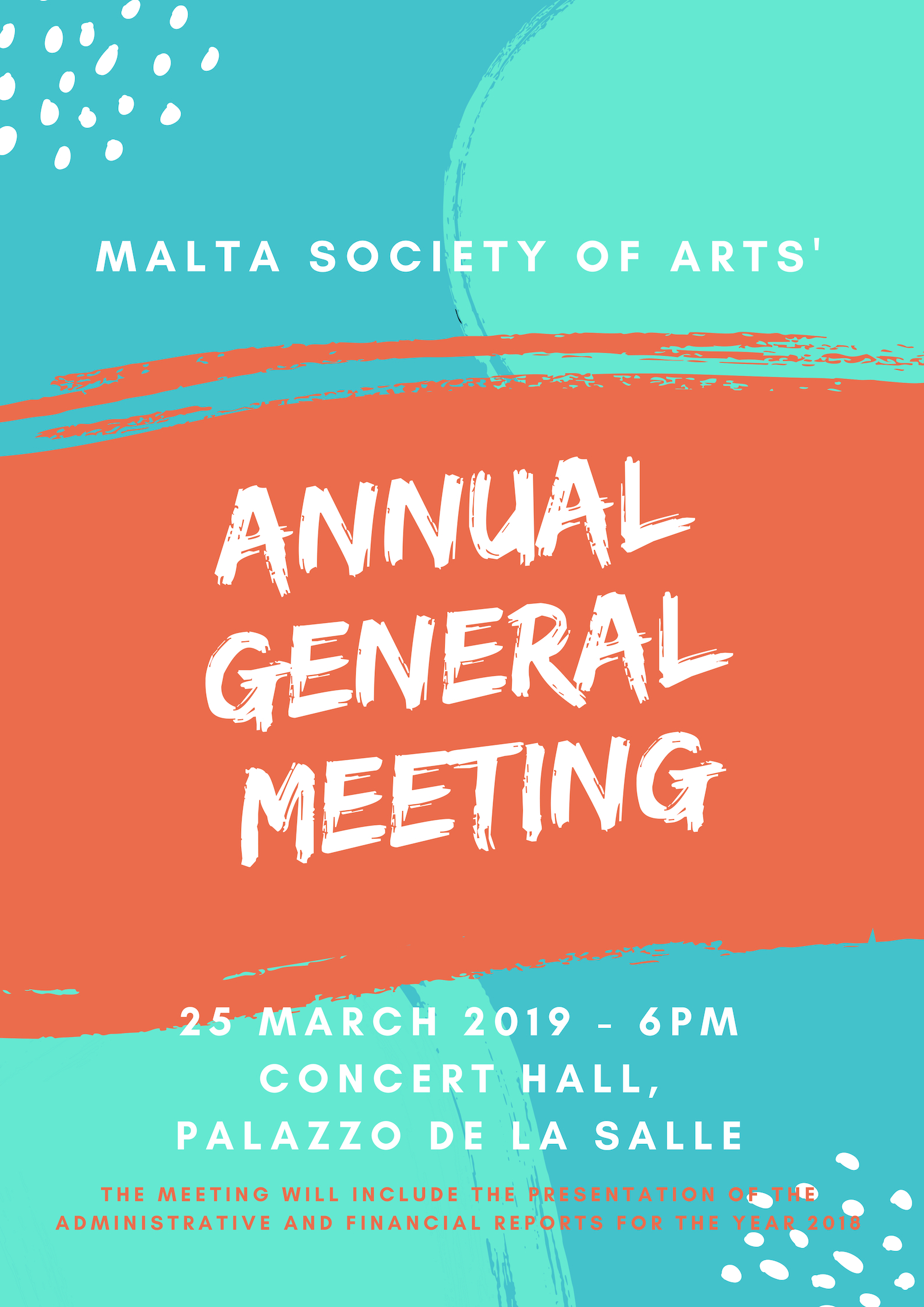 Poster for AGM 2019