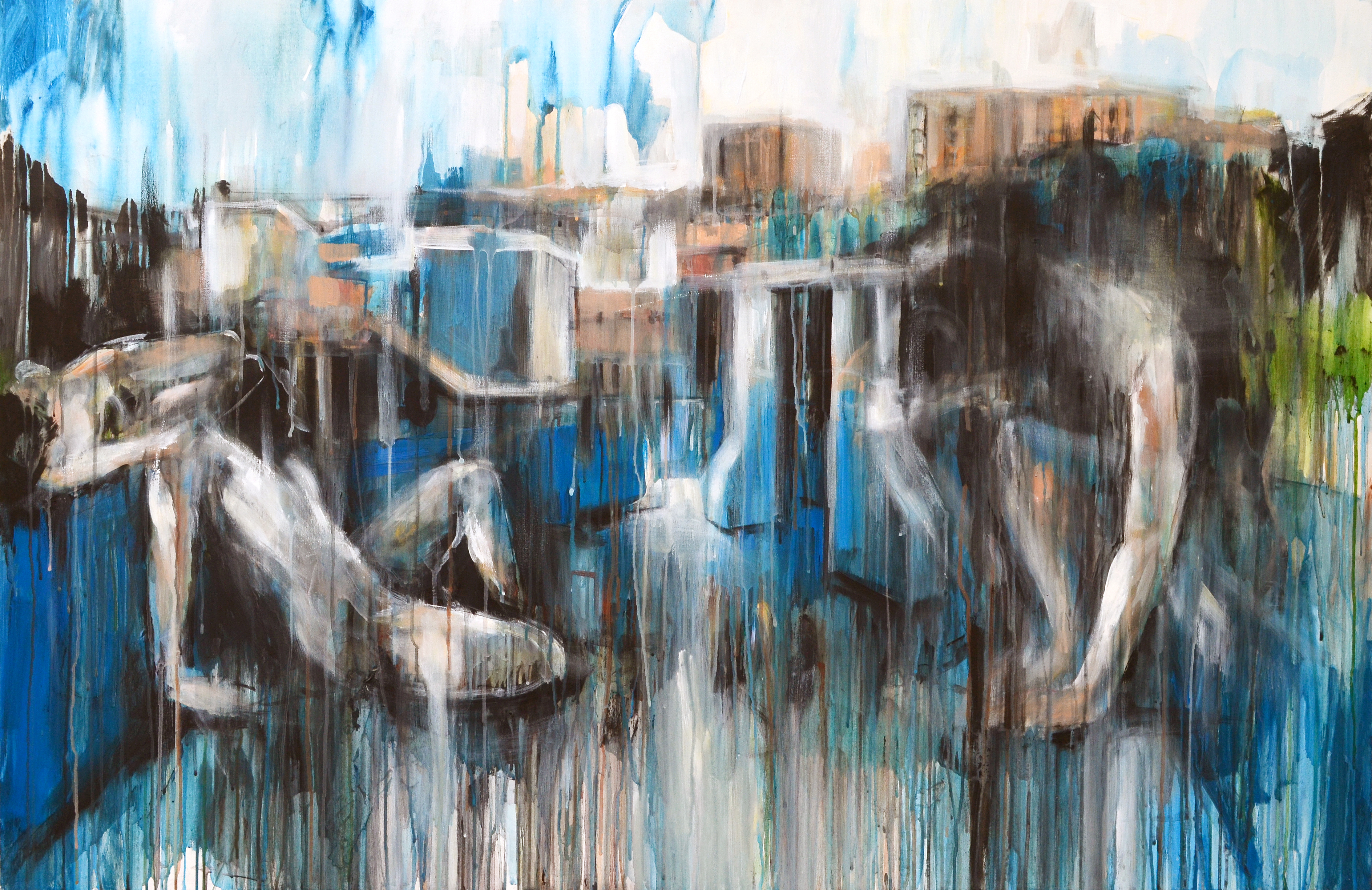 The Aesthetics of Disappearance - White Rocks - 150x100cm