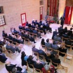 The Ceremony held at the court yard of  Palazzo de La Salle
