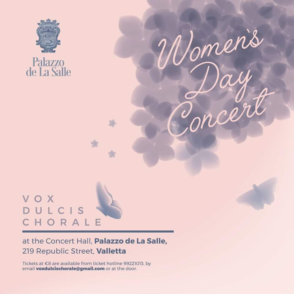 Women's Day Concert by Vox Dulcis Chorale Poster