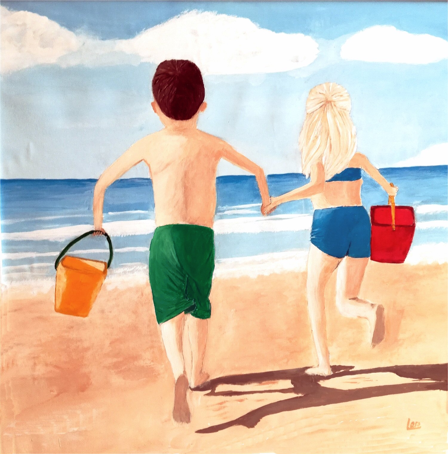 beach and children